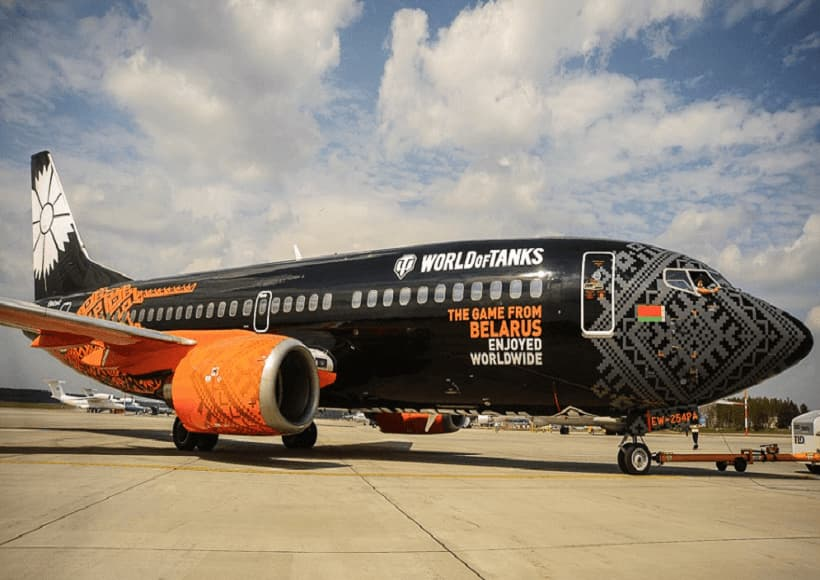Belavia-World-of-Tanks-Livery-Boeing-737-300-EW-254PA